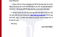 THÔNG BÁO (Về việc dừng tiếp nhận đăng kí dự tuyển trực tuyến)
